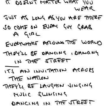 MICK JAGGER - handwritten lyrics by maehart