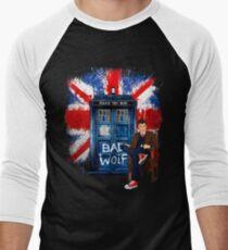 British Bad Wolf Men's Baseball ¾ T-Shirt