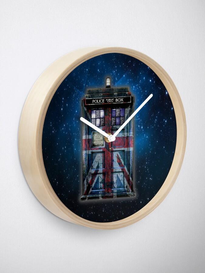Alternative Ansicht von Union Jack Öffentliche Telefonzelle Uhr