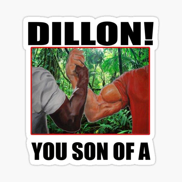 Dillon fils d'un prédateur Arnold Schwarzenegger Sticker