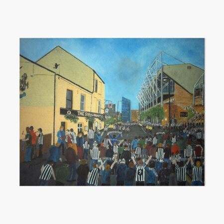 Toon Army, Newcastle United Art Board Print