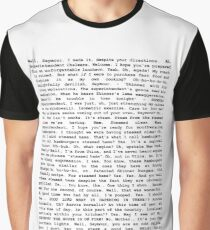 The Entire Steamed Hams Script Graphic T-Shirt