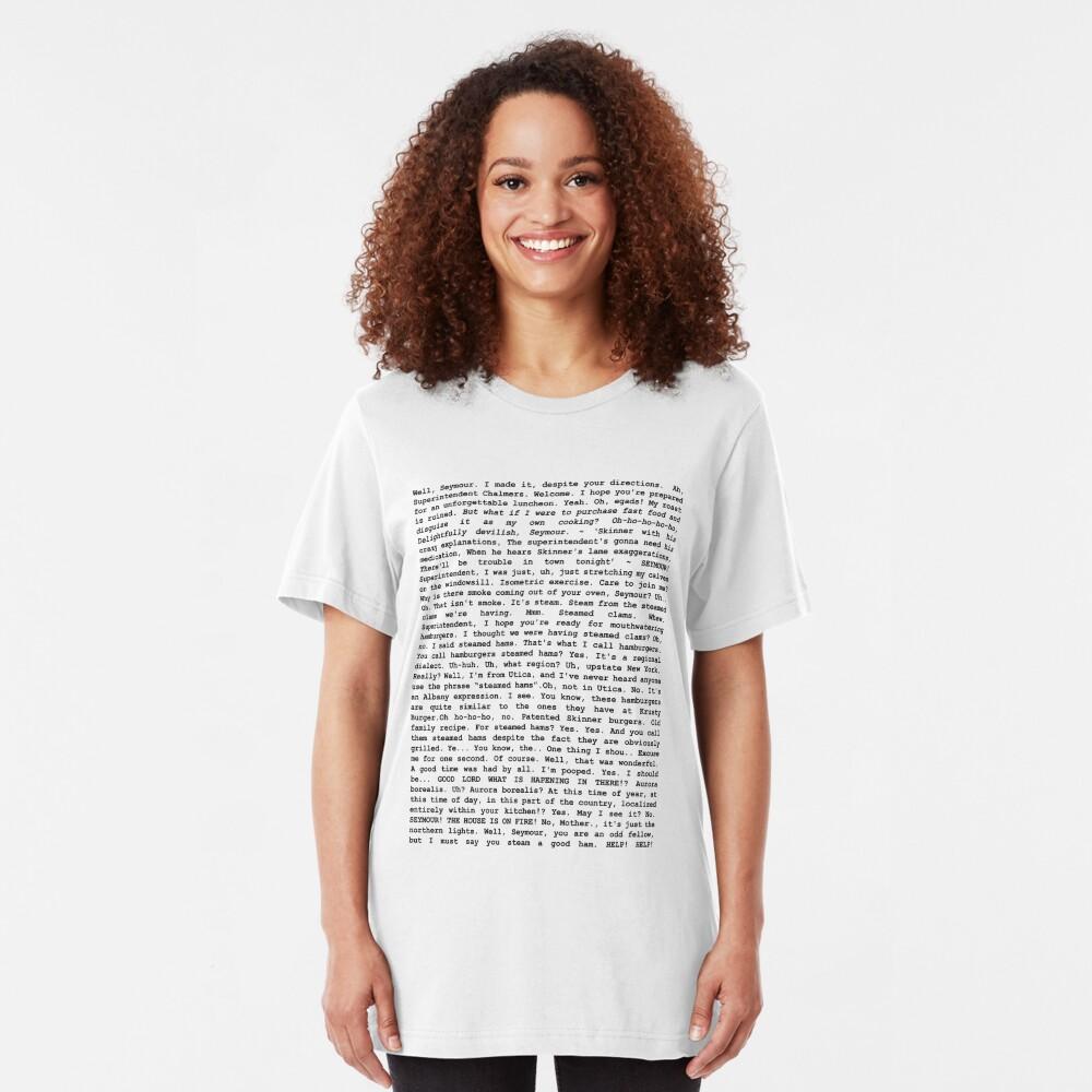 Das gesamte gedämpfte Schinken-Skript Slim Fit T-Shirt