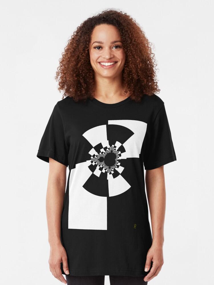 Alternate view of Untitled XXV - White Slim Fit T-Shirt