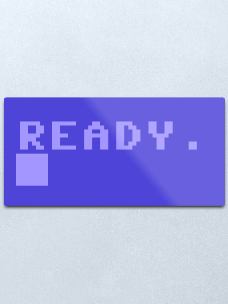 Alternate view of Commodore C64 Power On Prompt Metal Print