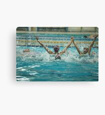synchronized swimming victory splashes of success Canvas Print