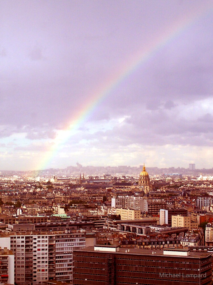 Rainbow over Paris by Michael Lampard