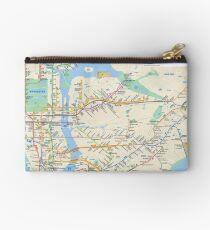 New York City - NYC - USA - Subway Map HD - High-Quality Studio Pouch