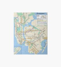 New York City - NYC - USA - Subway Map HD - High-Quality Art Board