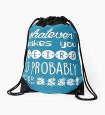 Whatever makes you weird Drawstring Bag