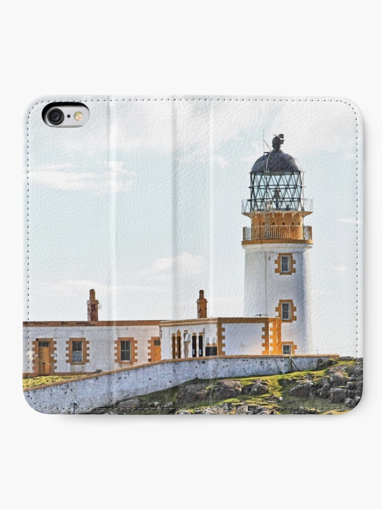 Alternate view of Lighthouse at Neast Point, Isle of Skye, Scotland iPhone Wallet