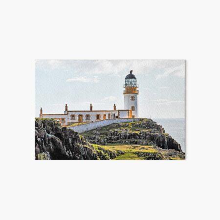 Lighthouse at Neast Point, Isle of Skye, Scotland Art Board Print