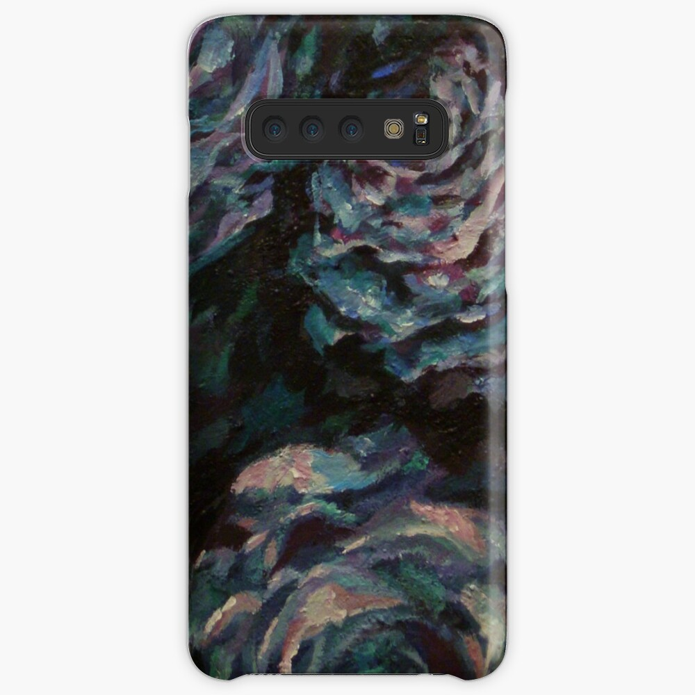 Three blue roses on square background Case & Skin for Samsung Galaxy