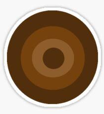 Brown Target  Sticker