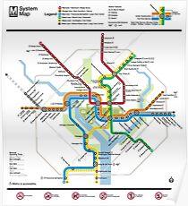 Washington Metro Map - United States Poster