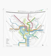 Washington Metro-Karte - Vereinigte Staaten von Amerika Wandbehang