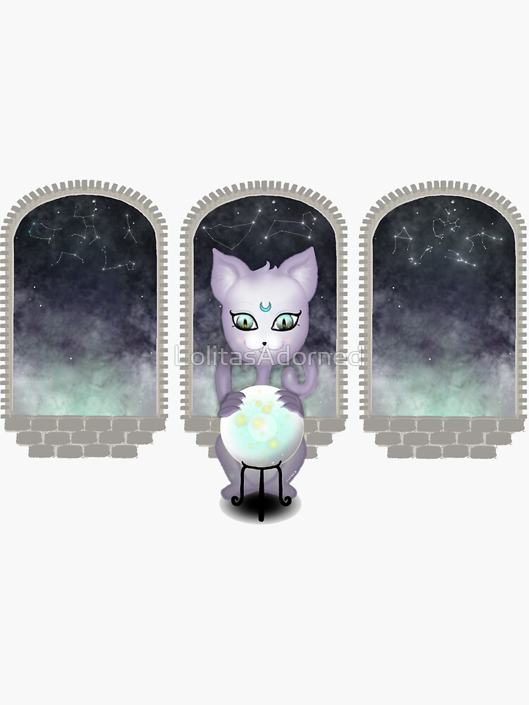 Mystic Miku   Crystal Ball & Zodiac   Dark Grey by LolitasAdorned