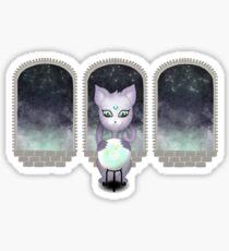 Mystic Miku | Crystal Ball & Zodiac | Dark Grey Sticker