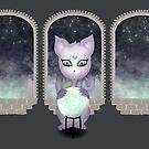 Mystic Miku | Crystal Ball & Zodiac | Dark Grey by LolitasAdorned