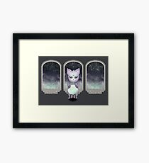 Mystic Miku | Crystal Ball & Zodiac | Dark Grey Framed Print