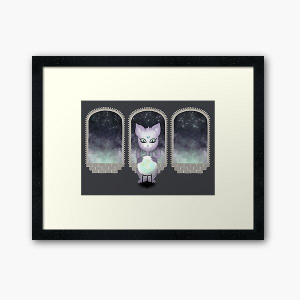 Mystic Miku   Crystal Ball & Zodiac   Dark Grey Framed Art Print