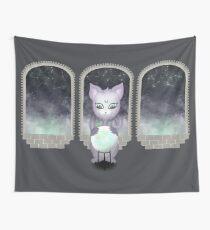 Mystic Miku | Crystal Ball & Zodiac | Dark Grey Wall Tapestry