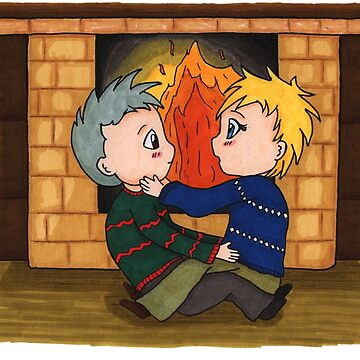 Sam & Jack - Fireplace by XFchemist-Art