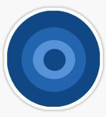 Blue Target  Sticker