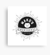 Mako's Smokehouse Parody Branding Canvas Print