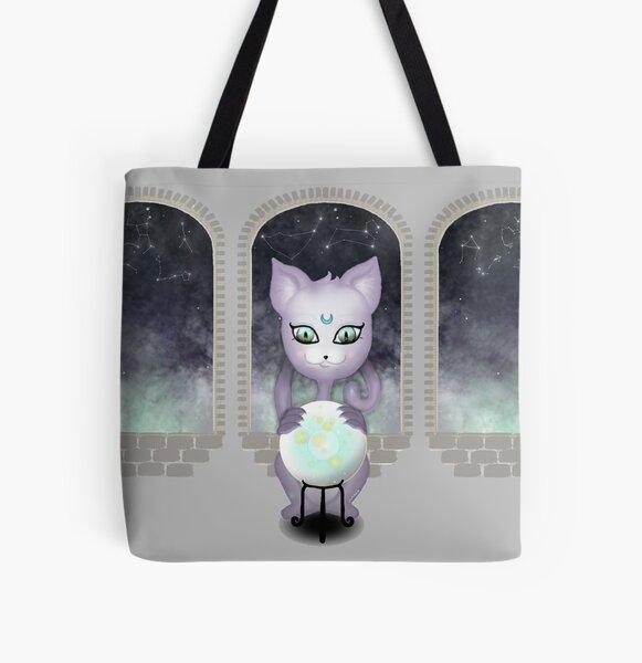 Mystic Miku   Crystal Ball & Zodiac   Light Grey All Over Print Tote Bag