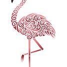 Funky Tribal Flamingo by artsytoo
