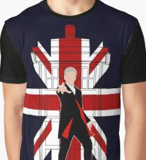 12th Doctor Union Jack silhouette Graphic T-Shirt