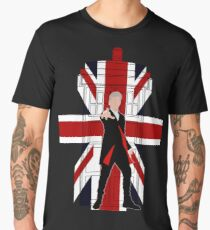 12th Doctor Union Jack silhouette Men's Premium T-Shirt