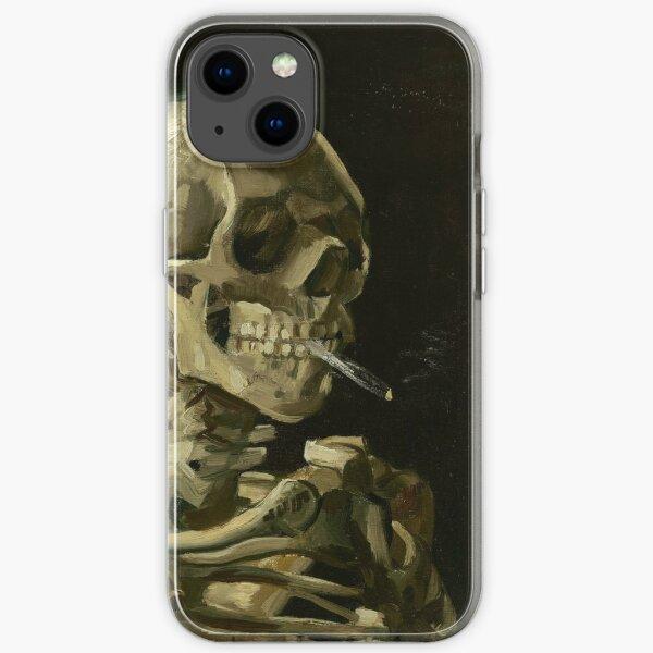 Vincent Van Gogh Skeleton Smoking iPhone Soft Case