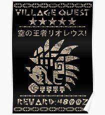 Village Quest - Rathalos Poster