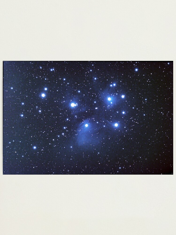 Alternate view of M45 seven sisters Photographic Print
