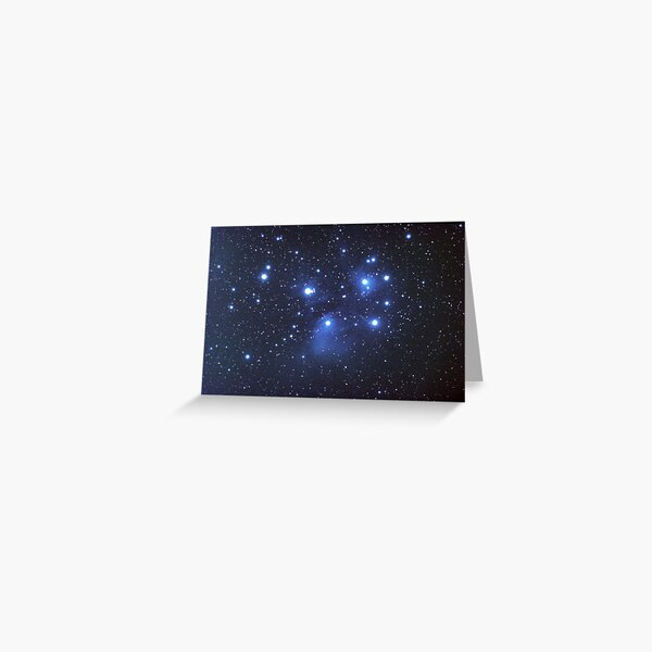 M45 seven sisters Greeting Card