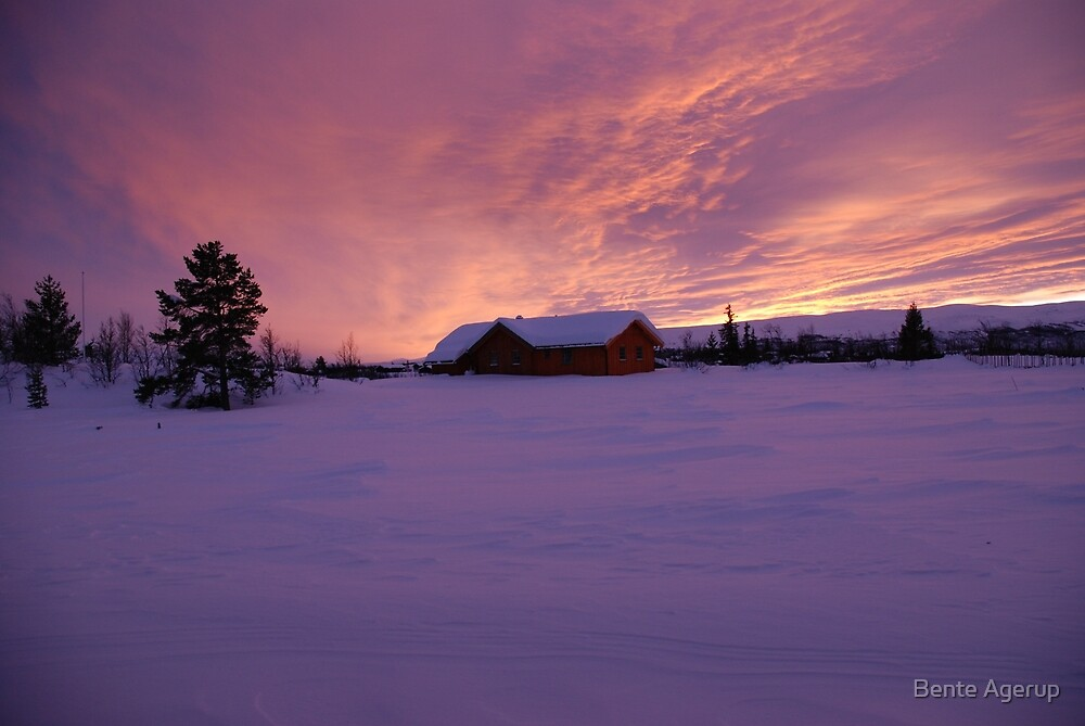 Sunset - Beitostølen - Norway by Bente Agerup
