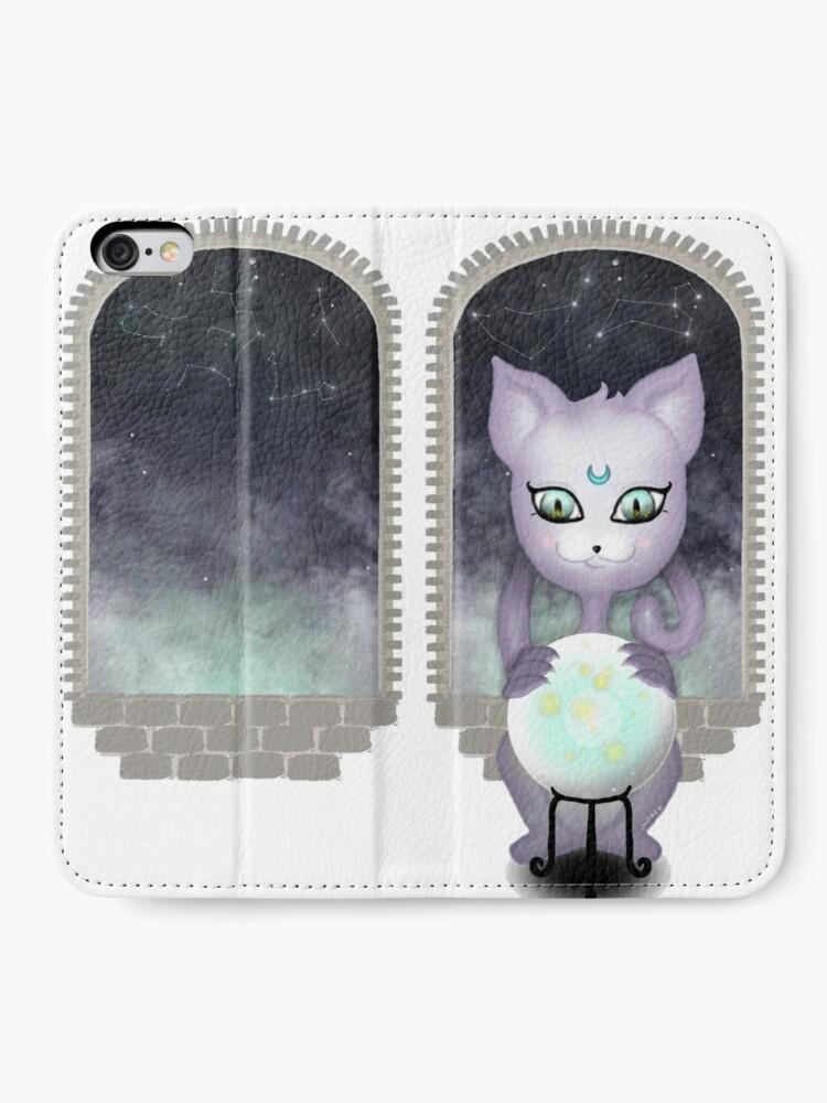Alternate view of Mystic Miku | Crystal Ball & Zodiac | White iPhone Wallet