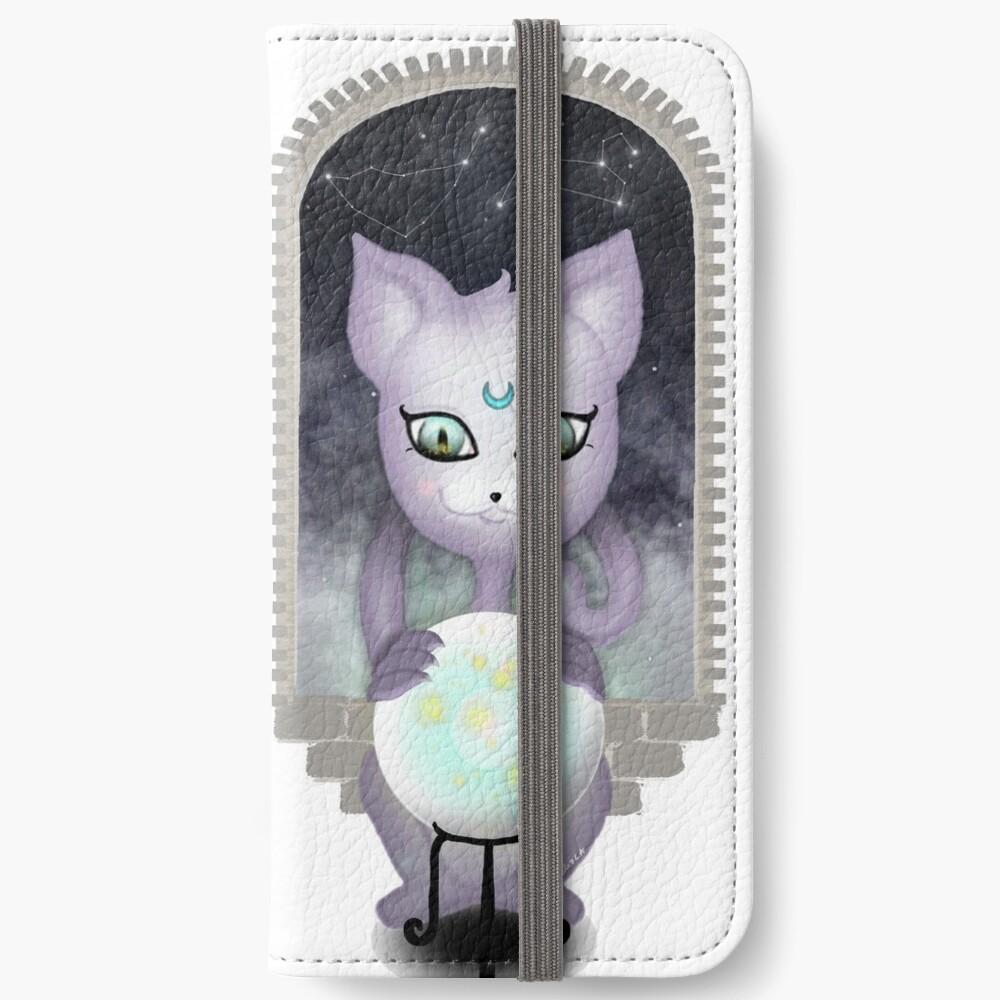 Mystic Miku | Crystal Ball & Zodiac | White iPhone Wallet