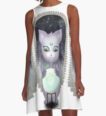 Mystic Miku | Crystal Ball & Zodiac | White A-Line Dress