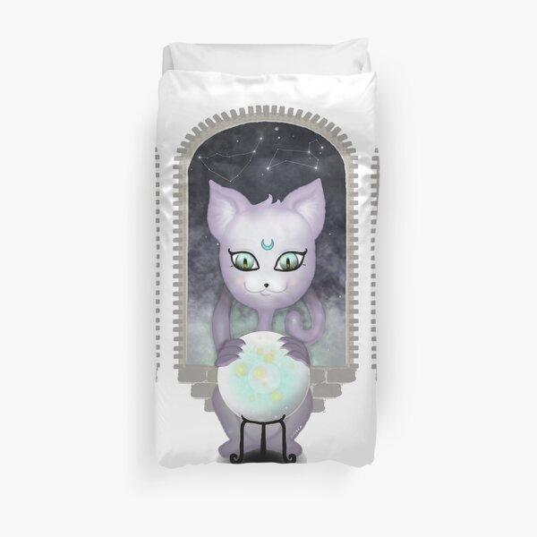 Mystic Miku | Crystal Ball & Zodiac | White Duvet Cover