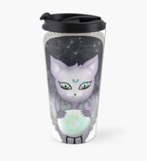 Mystic Miku | Crystal Ball & Zodiac | White Travel Mug