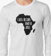 Ich segne die Regenfälle in Afrika Langarmshirt