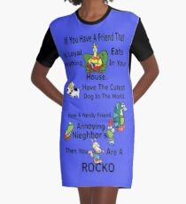 Your A Rocko Graphic T-Shirt Dress