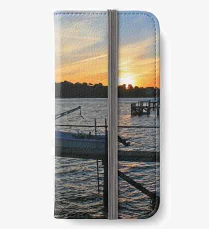 Sunset over Brownsea iPhone Wallet