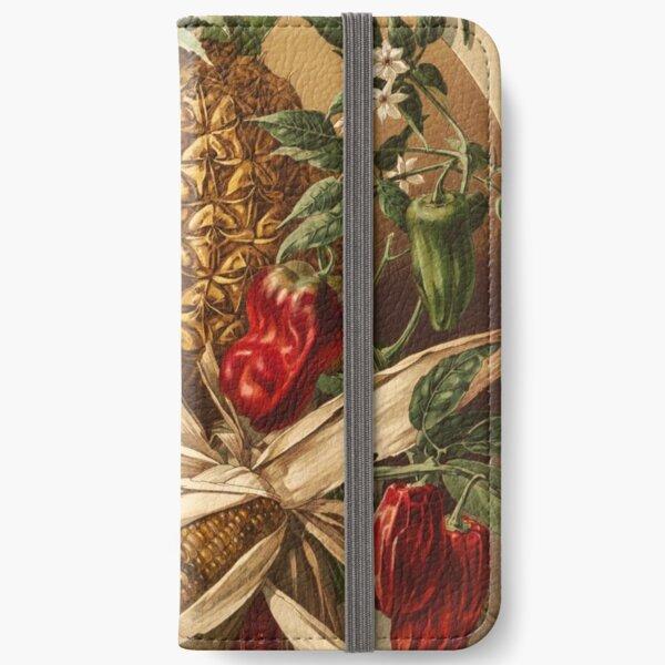 Ananas, Mais und Paprika iPhone Flip-Case