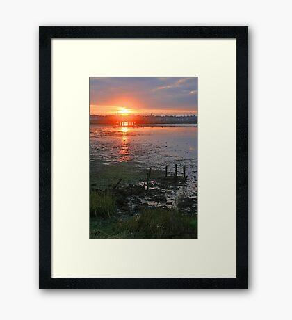 Holes Bay Sunset Framed Print