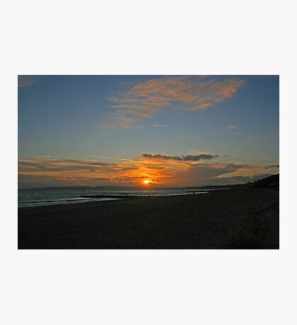 Boscombe Sunset Photographic Print