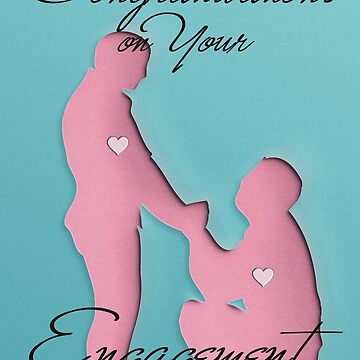 Congratulations - EnGAYgement - Male - Blank Card V2 by adamhills